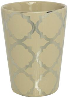 Byzantine Taupe and Silver Hand-Poured Scented Candle (9M365) 9M365