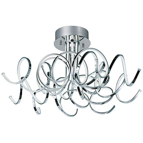"ET2 Chaos 31"" Wide Polished Chrome LED Ceiling Light"