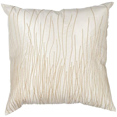 "Simplicity Ivory 18"" Square Decorative Pillow"