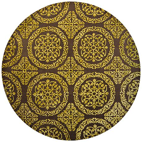 Chandra Satara Brown and Gold Wool Area Rug