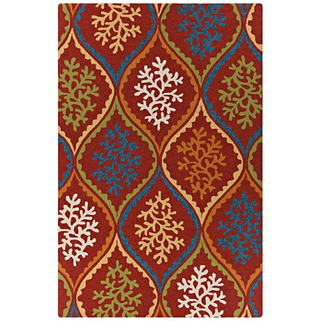 Chandra Terra Red and Orange Outdoor Area Rug