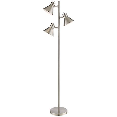 Luken Brushed Steel 3 Light Tree Floor Lamp 9m692 Www