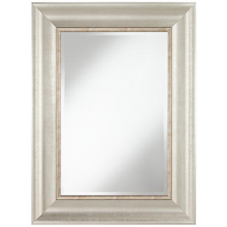 "Keegan Silver 30"" x 40"" Rectangular Wall Mirror"
