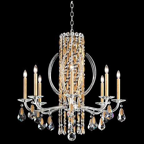 "Schonbek Sarella 30""W Heirloom Gold 8-Light Chandelier"