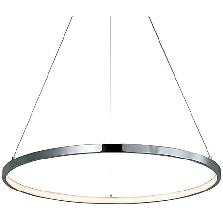 "ET2 Hoops 23 1/2"" Wide Polished Chrome LED Pendant Light"