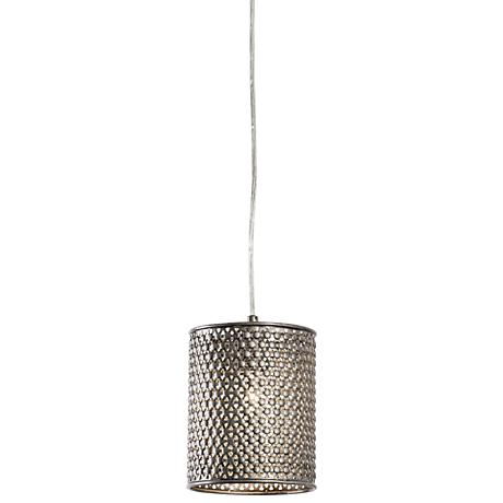 "Varaluz Casablanca 6"" Wide Steel Mini Pendant"