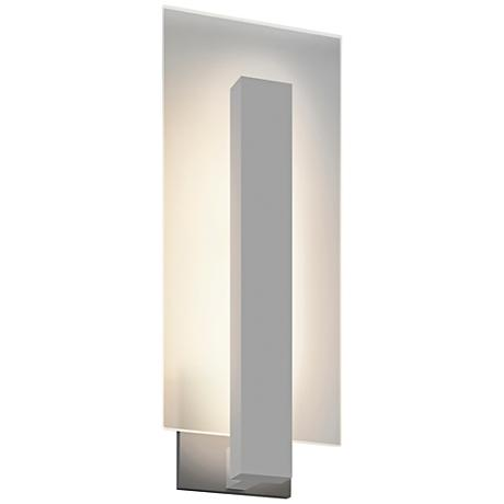 "Midtown 18"" High Textured Gray Outdoor LED Wall Light"