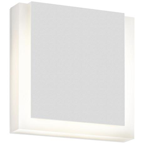 "SQR 7"" High Textured White Outdoor LED Wall Light"