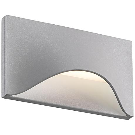 "Tides 4 1/2"" High Textured Gray LED Outdoor Wall Light"