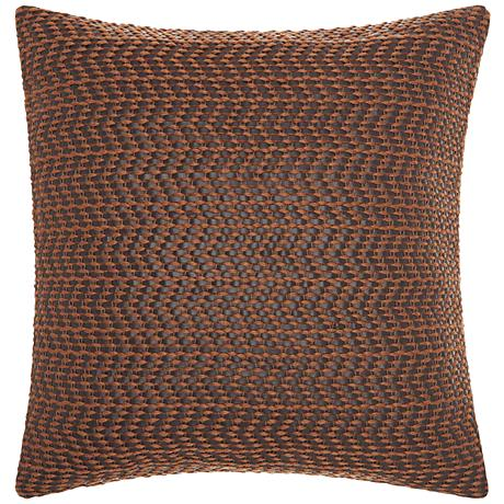 "Joseph Abboud Brown 22"" Square Decorative Throw Pillow"