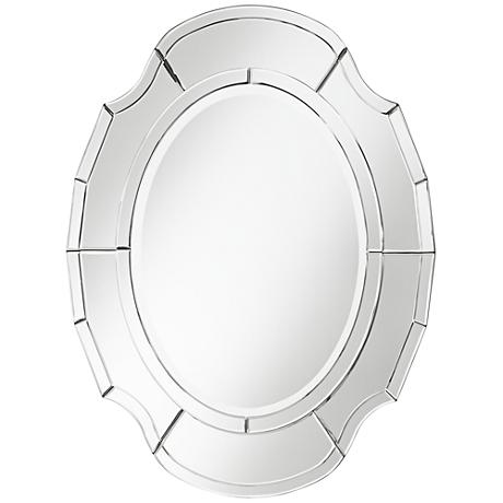 "Albany Scalloped 25"" x 34"" Oval Wall Mirror"