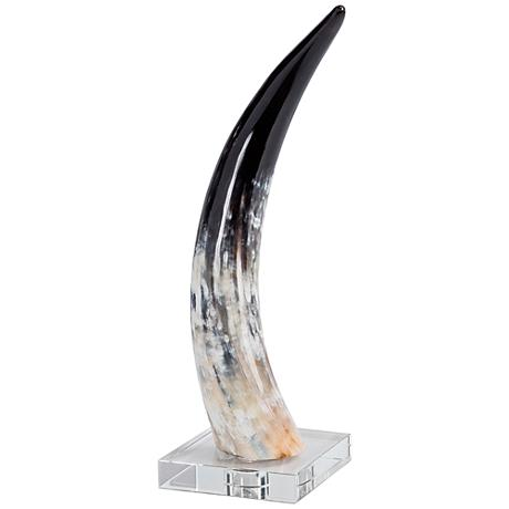 Regina-Andrew Crystal-Base Medium Horn Accent Sculpture