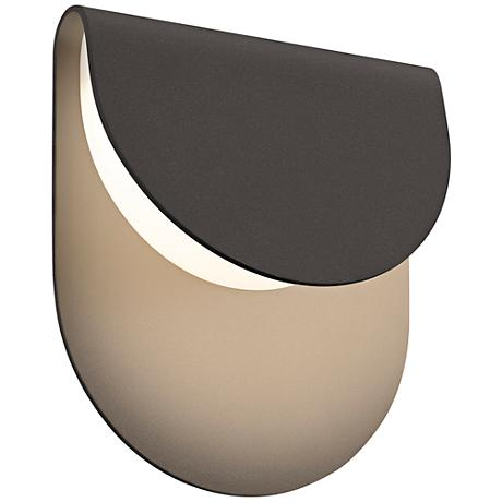"""Sonneman Cape 8""""H Textured Bronze LED Outdoor Wall Light"""