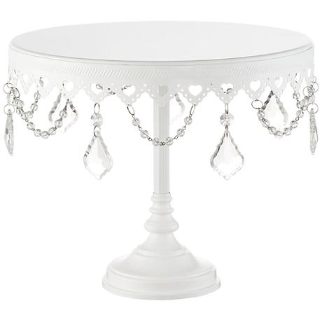 "La-Romain 8"" High Single Tier Cake Stand"