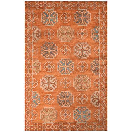 Jaipur Pendant Orange and Blue Wool Area Rug