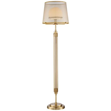 Possini Euro Phileas Antique Brass Floor Lamp 9P649