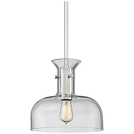 "Hudson Valley Coffey 12"" Wide Polished Nickel Pendant Light"