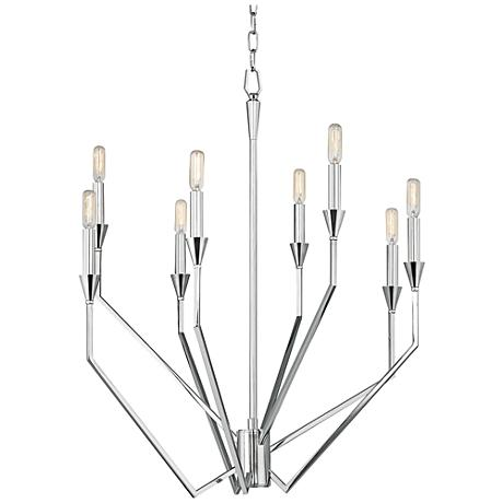 "Hudson Valley Archie 24 1/4"" Wide Polished Nickel Chandelier"