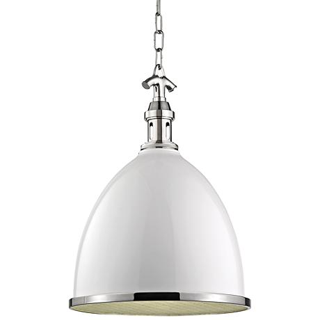 "Viceroy 12 3/4"" Wide White and Polished Nickel Pendant Light"