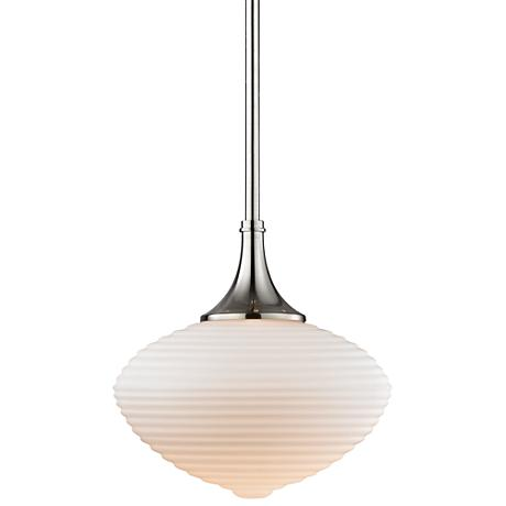 "Hudson Valley Knox 12"" Wide Satin Nickel Pendant Light"