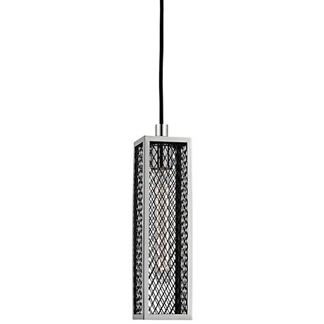 "Brookline 3 1/2"" Wide Polished Nickel Mini Pendant"