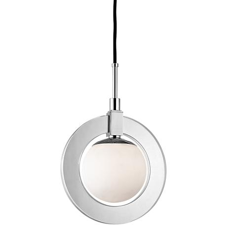 "Caswell 12"" Wide Polished Nickel LED Pendant Light"