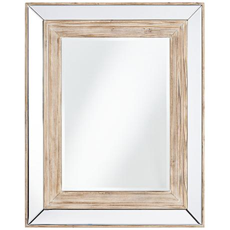 "Hertford Natural Wood 31 1/2"" x 39 1/2"" Wall Mirror"