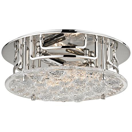 "Hudson Valley Holland 11 1/4""W Polished Nickel Ceiling Light"
