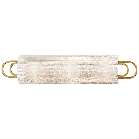 "Hudson Valley Buckley 25"" Wide Aged Brass Bath Light"