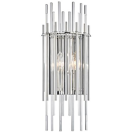 "Hudson Valley Wallis 19 3/4""H Polished Nickel Wall Sconce"