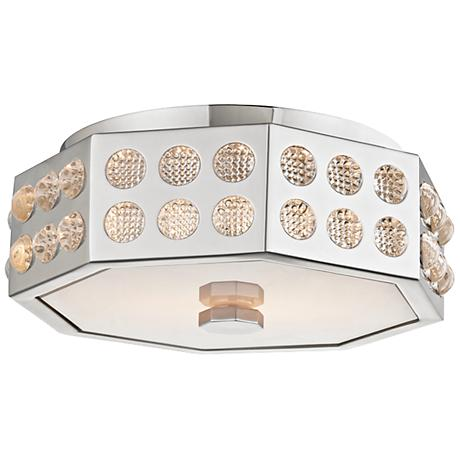"Hudson Valley Hansen 12"" Wide Polished Nickel Ceiling Light"