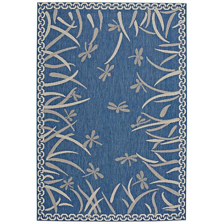 Capel Elsinore-Dragonfly Blueberry Indoor/Outdoor Area Rug