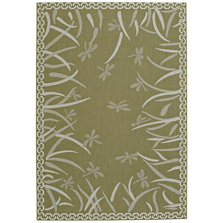 Capel Elsinore-Dragonfly Pistachio Indoor/Outdoor Area Rug