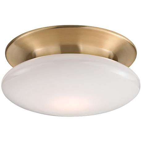 "Hudson Valley Irvington 12""W Satin Brass LED Ceiling Light"