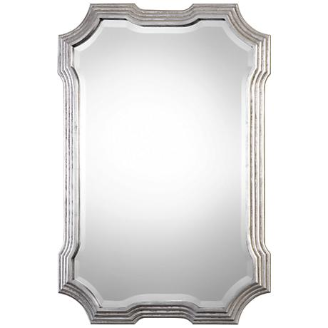 "Uttermost Halima Silver Leaf 27"" x 40"" Wall Mirror"