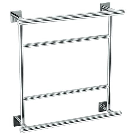 "Gatco Elevate Chrome 20 3/4"" Wide Hotel Towel Rack"