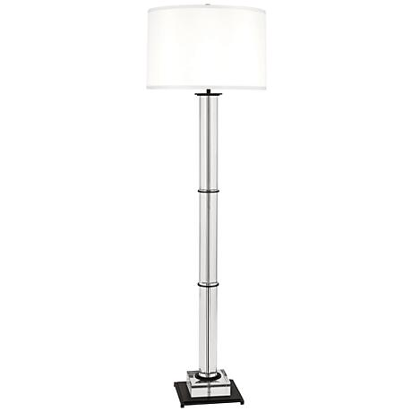 Finnie Bronze and Clear Crystal Floor Lamp