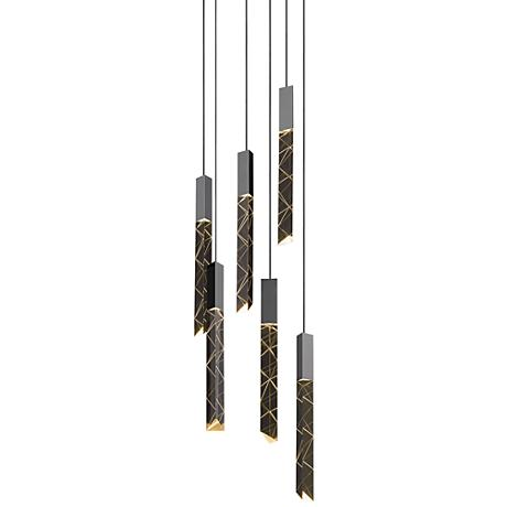 "Trinity 9 1/4""W Polished Chrome LED Multi-Light Pendant"