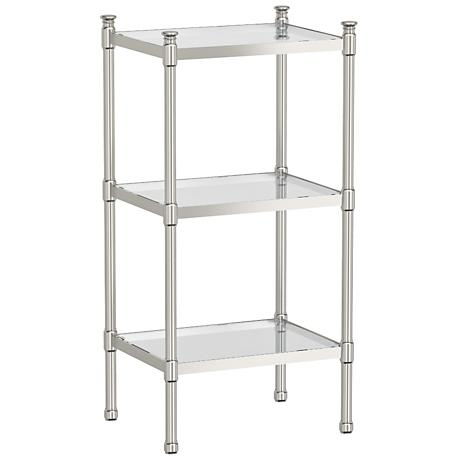 "Gatco Modernize Nickel 28 1/4"" High 3-Tier Rectangle Shelf"