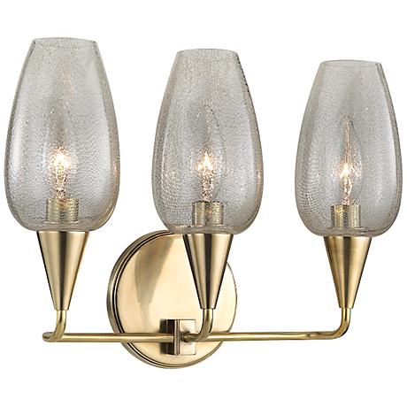 "Hudson Valley Longmont 10 1/4"" High Aged Brass Wall Sconce"