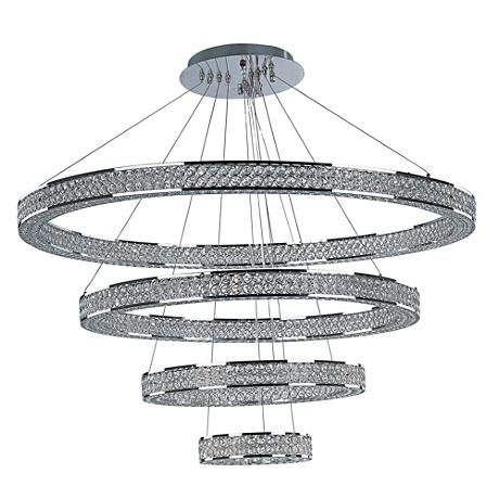 "Maxim Eternity 39 3/4"" Wide Polished Chrome LED Pendant Light"