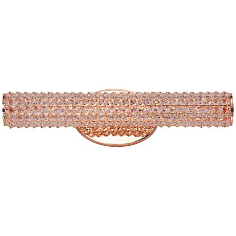 "Maxim Meteor 20 1/2"" Wide Rose Gold LED Bath Light"