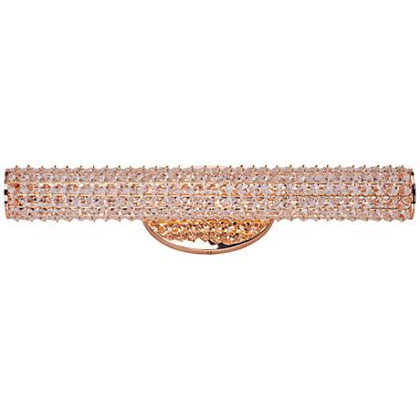 "Maxim Meteor 23"" Wide Rose Gold LED Bath Light"