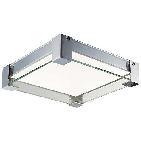 "Maxim Vista 10 3/4"" Wide Satin Nickel LED Ceiling Light"