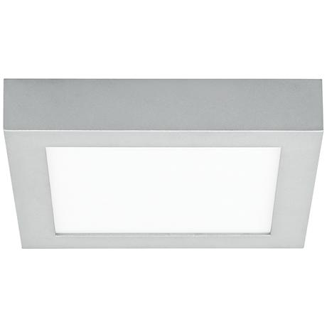 "LBL Tenur Square 8 3/4"" Wide Silver LED Ceiling Light"