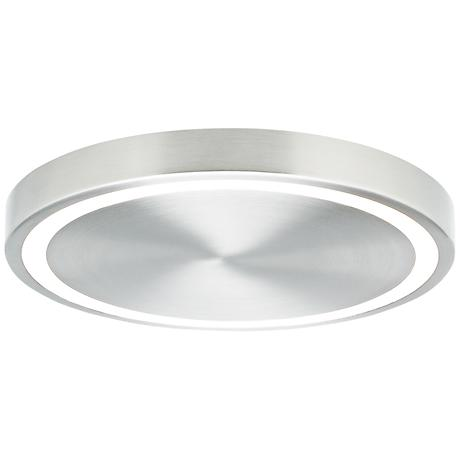 "LBL Crest 12 1/4"" Wide Satin Nickel LED Ceiling Light"
