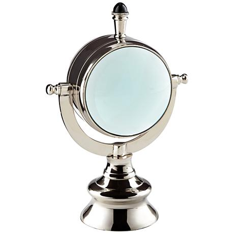 "Cyan Design Looking Glass 10 1/4"" High Nickel Figurine"