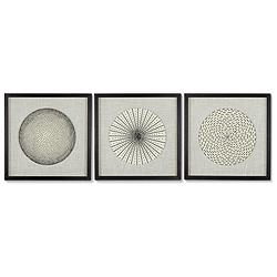 "Dainty Burst 23 3/4"" High Wall Art Set of 3"