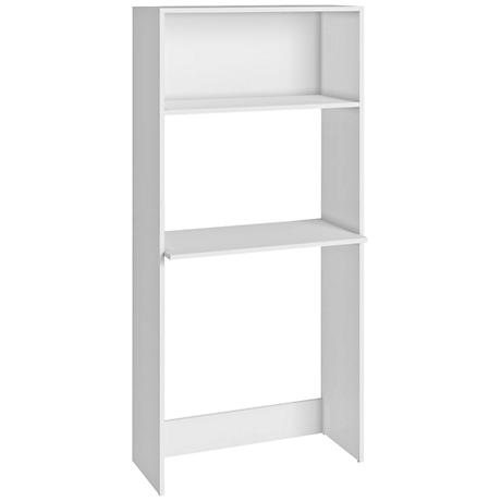 Accentuations Parma White Work Desk and Bookcase