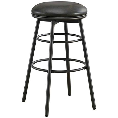 "Avery 26"" Tobacco Bonded Black Leather Swivel Counter Stool"